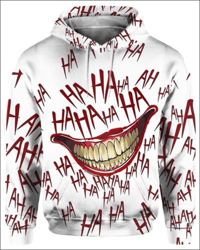 The Joker Laugh - All Over Apparel - Hoodie / S - www.secrettees.com