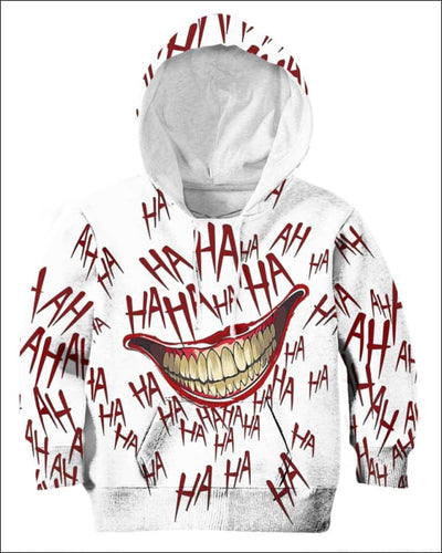 The Joker Laugh - All Over Apparel - Kid Hoodie / S - www.secrettees.com
