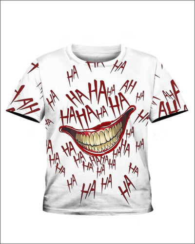 The Joker Laugh - All Over Apparel - Kid Tee / S - www.secrettees.com