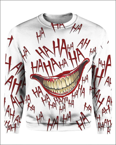 The Joker Laugh - All Over Apparel - Sweatshirt / S - www.secrettees.com