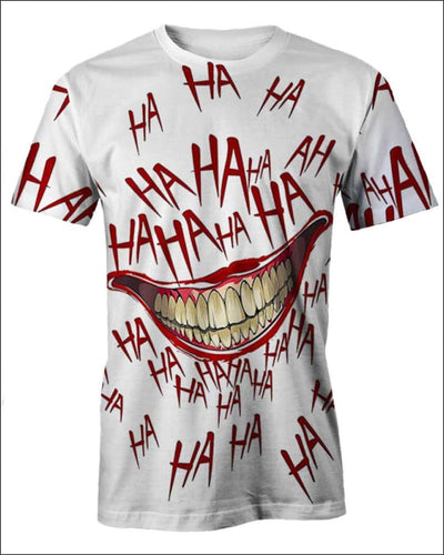 The Joker Laugh - All Over Apparel - T-Shirt / S - www.secrettees.com