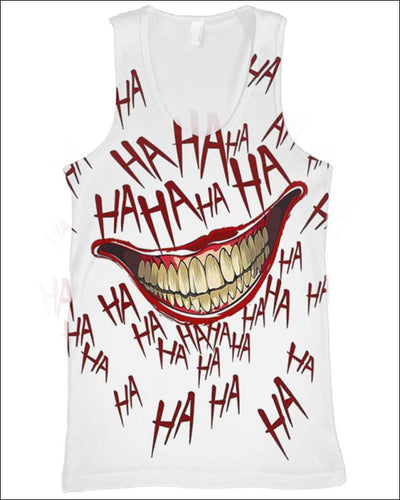 The Joker Laugh - All Over Apparel - Tank Top / S - www.secrettees.com