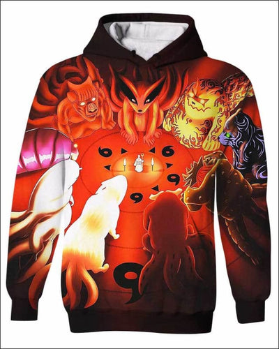 The Power Of The Monsters - All Over Apparel - Kid Hoodie / S - www.secrettees.com