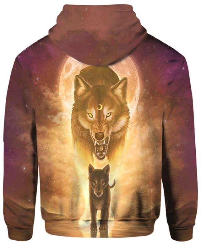The Sun And Wolves - All Over Apparel - Hoodie / S - www.secrettees.com