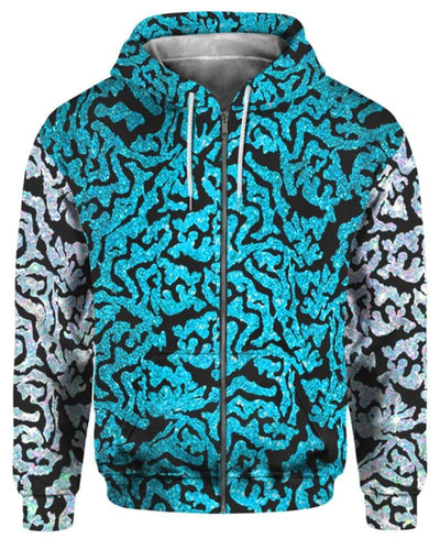 Tiger King Costume - All Over Apparel - Zip Hoodie / S - www.secrettees.com