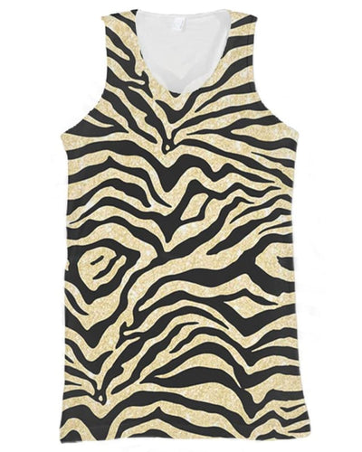 Tiger Skin Costume - All Over Apparel - Tank Top / S - www.secrettees.com