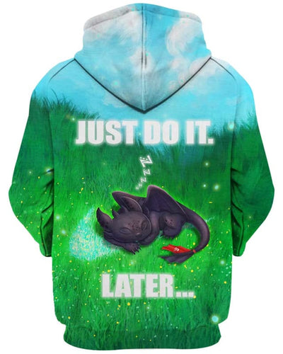 Toothless - Just Do It Later - All Over Apparel - www.secrettees.com