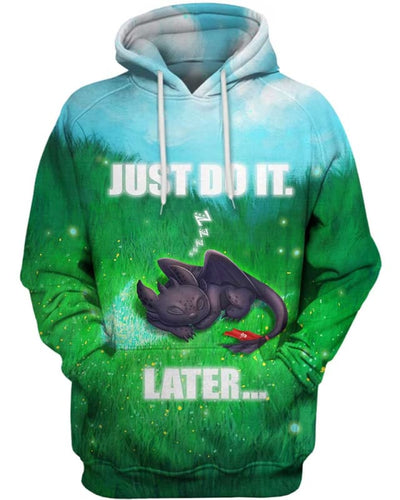Toothless - Just Do It Later - All Over Apparel - Hoodie / S - www.secrettees.com