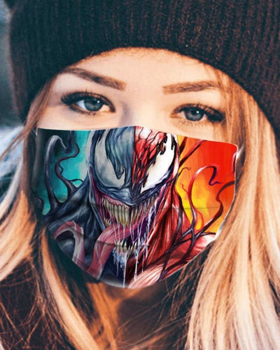Venom Carnage Symbiote 2 Face Face Mask - Face Mask - 3 Pack / All Over Print - www.secrettees.com
