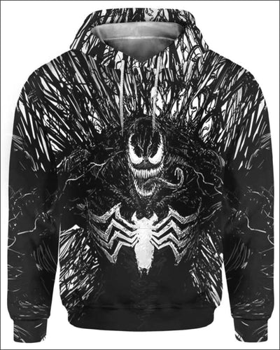 Venom Costume 3D - All Over Apparel - Hoodie / S - www.secrettees.com