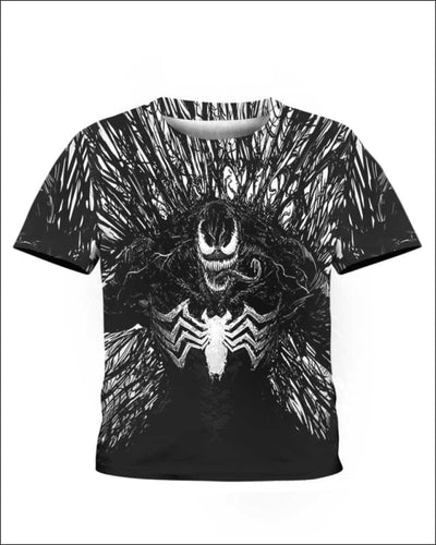 Venom Costume 3D - All Over Apparel - Kid Tee / S - www.secrettees.com