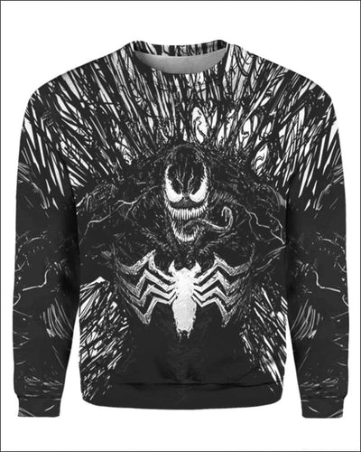 Venom Costume 3D - All Over Apparel - Sweatshirt / S - www.secrettees.com