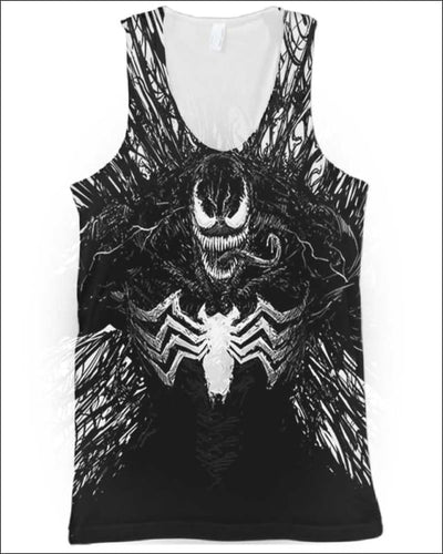 Venom Costume 3D - All Over Apparel - Tank Top / S - www.secrettees.com