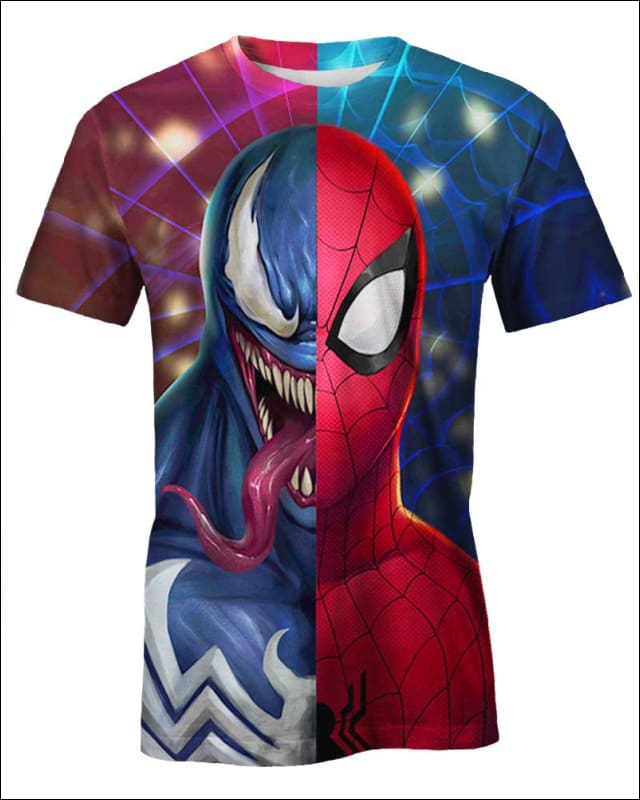 Venom x SpiderMan - All Over Apparel - Hoodie / S - www.secrettees.com