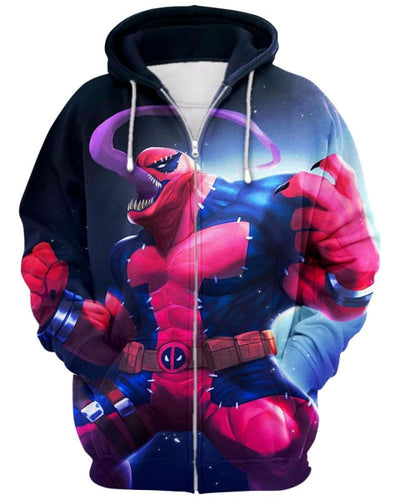 Venompool - All Over Apparel - Zip Hoodie / S - www.secrettees.com