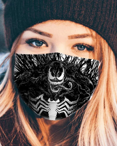 We are Venom 3D Face Mask - Face Mask - 3 Pack / All Over Print - www.secrettees.com