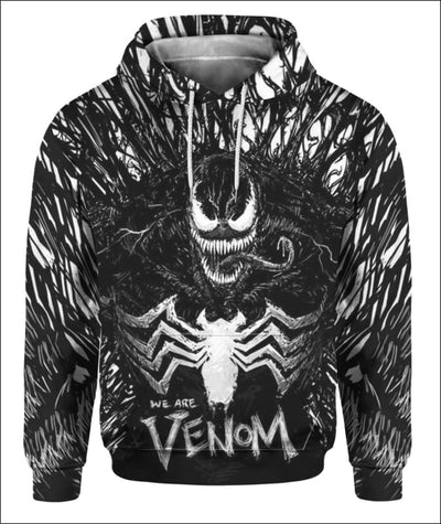 We are Venom 3D - All Over Apparel - Hoodie / S - www.secrettees.com