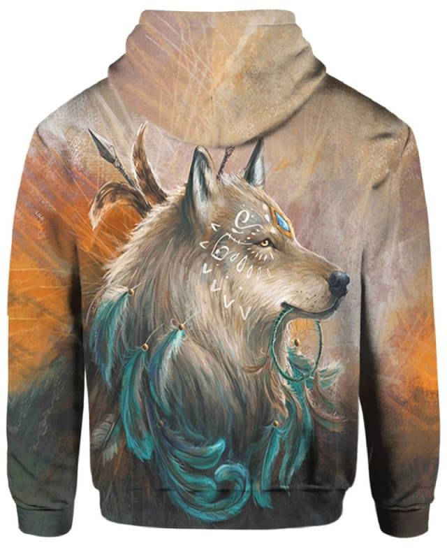 Wolf Blue Stone - All Over Apparel - Hoodie / S - www.secrettees.com