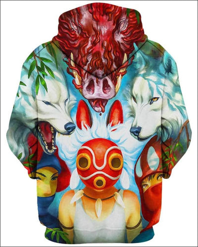 Wolf Princess Mask - All Over Apparel - www.secrettees.com
