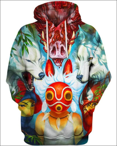 Wolf Princess Mask - All Over Apparel - Hoodie / S - www.secrettees.com