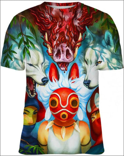 Wolf Princess Mask - All Over Apparel - Kid Tee / S - www.secrettees.com