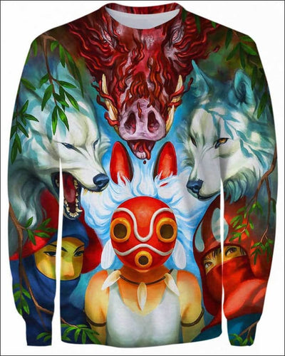 Wolf Princess Mask - All Over Apparel - Sweatshirt / S - www.secrettees.com