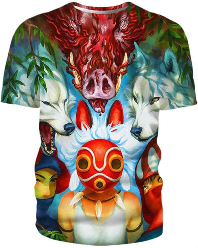 Wolf Princess Mask - All Over Apparel - T-Shirt / S - www.secrettees.com