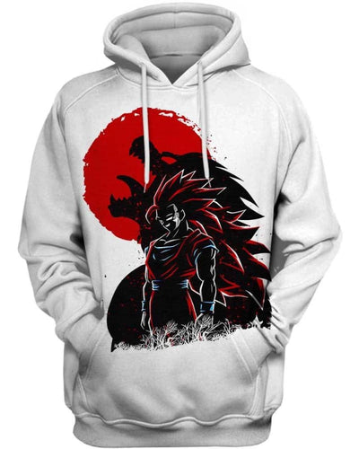 Wolf Warrior - All Over Apparel - Hoodie / S - www.secrettees.com