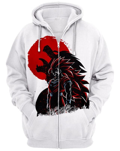 Wolf Warrior - All Over Apparel - Zip Hoodie / S - www.secrettees.com
