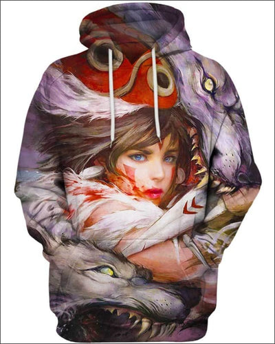 Wolf's Daughter - All Over Apparel - Hoodie / S - www.secrettees.com