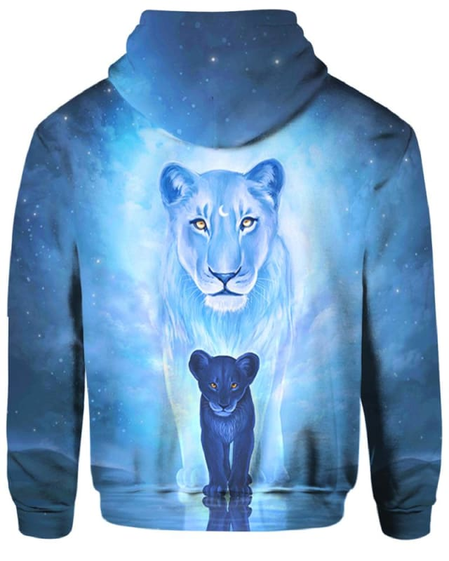 Wolves Blue - All Over Apparel - Hoodie / S - www.secrettees.com