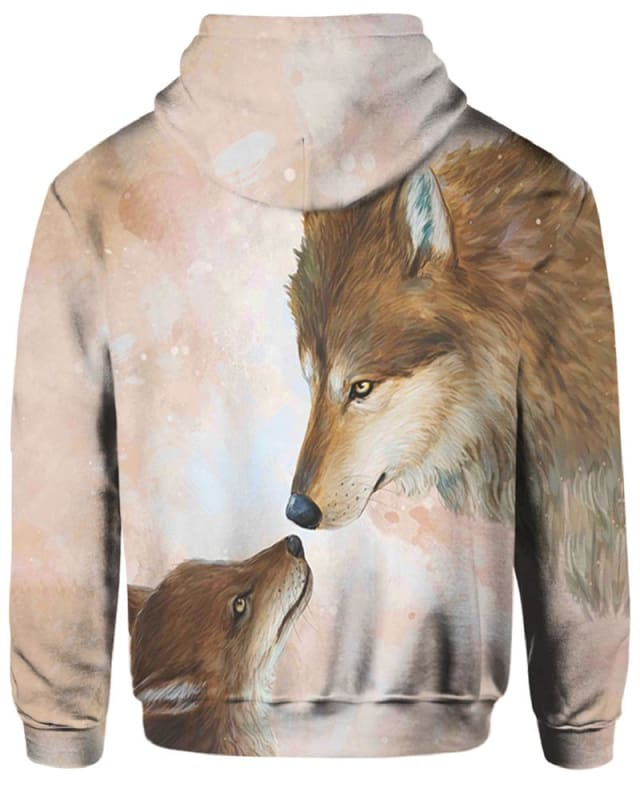 Wolves' Family - All Over Apparel - Hoodie / S - www.secrettees.com