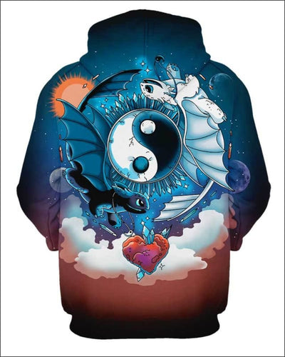 Ying Yang Dragons - All Over Apparel - www.secrettees.com