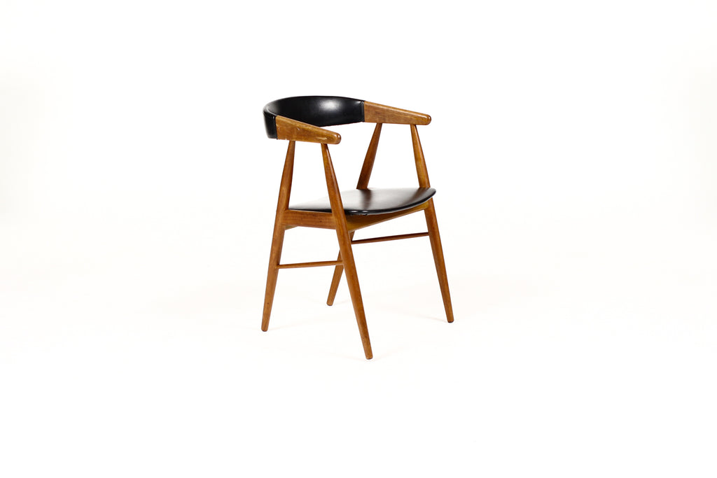#1739 – Danish Modern / Mid Century Teak Dining Chairs – Aksel Bender Madsen – Set of 6 – Restoration / Upholstery Included