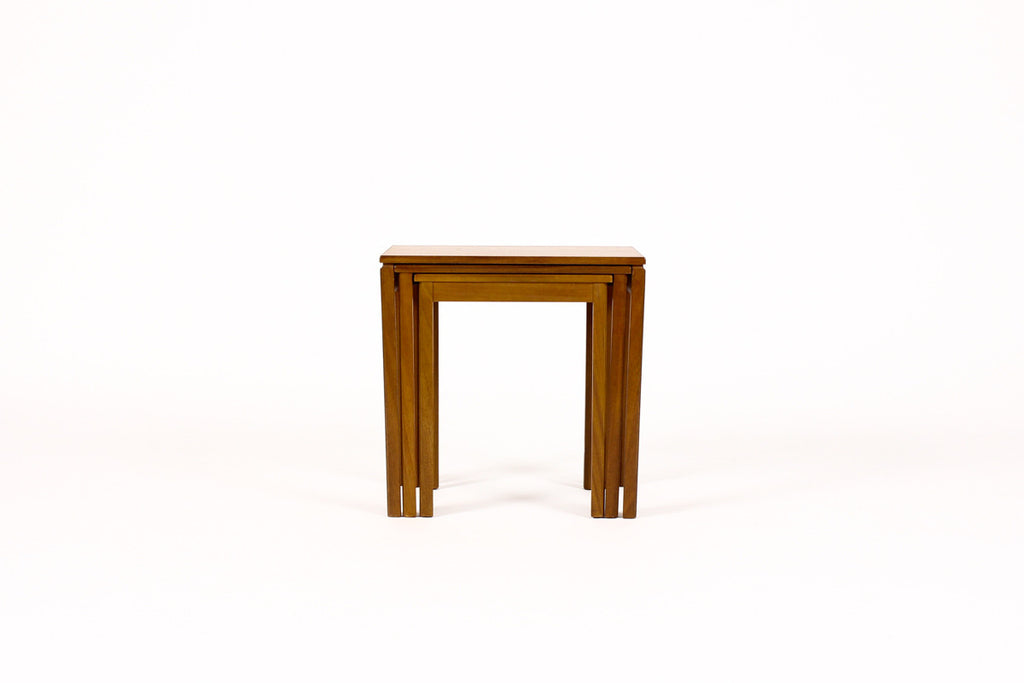 #956 — Danish Modern / Mid Century Teak Nesting Tables — Straight Leg — McIntosh