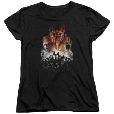 LORD OF THE RINGS - EVIL RISING LADIES T-SHIRT