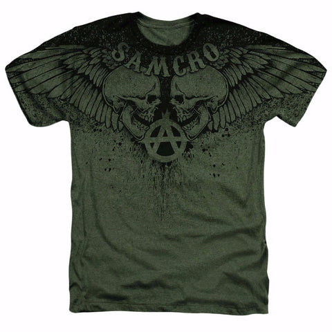 SONS OF ANARCHY WINGED SKULLS T-SHIRT