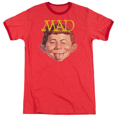 ABSOLUTELY MAD - UNISEX HEATHER RINGER T-SHIRT