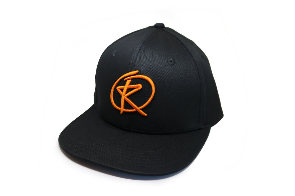 BLACK Snapback - Orange Logo