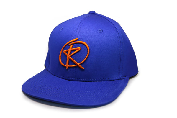 RQ Snapback - Royal Blue / Orange Logo