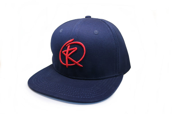 RQ Snapback - Navy Blue / Red Logo