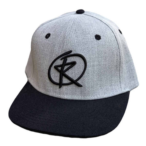RQ Snapback - Heather Gray/Black / Black Logo