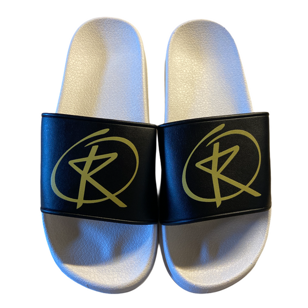 Slides - White / Black / Gold Logo