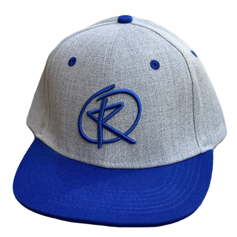 RQ Snapback - Heather Gray/Royal Blue / Royal Blue Logo