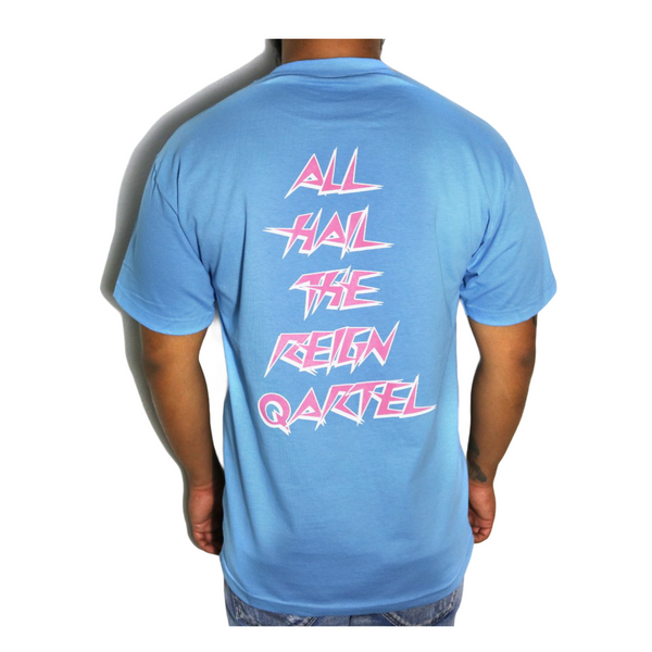 All Hail Tees - Carolina Blue / Pink
