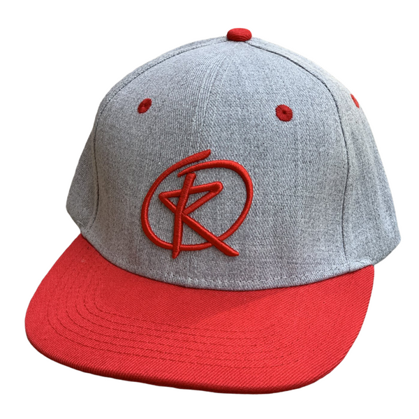 RQ Snapback - Heather Gray/Red / Red Logo