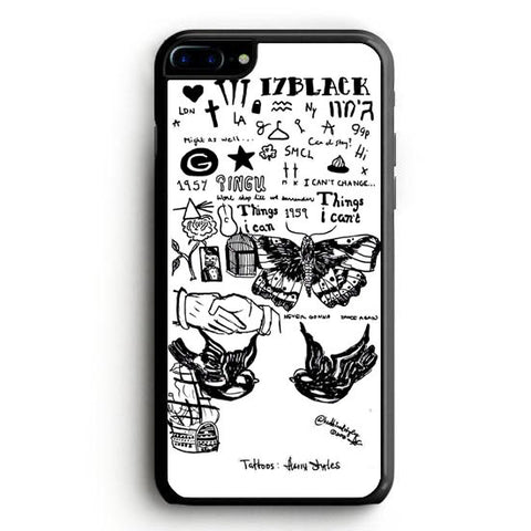 1D Harry Styles Tattoos iPhone 7 Case | yukitacase.com