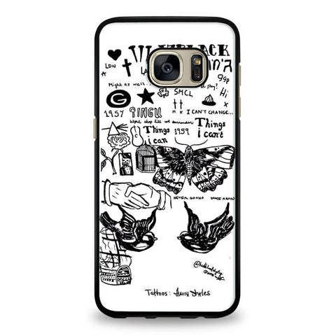 1D Harry Styles Tattoos Samsung Galaxy S6 Edge Case | yukitacase.com