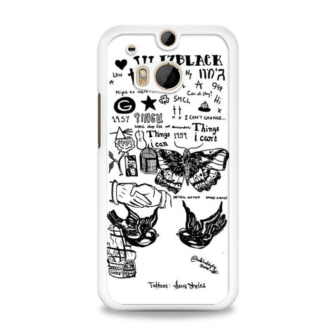1D Harry Styles Tattoos HTC One M8 Case | yukitacase.com