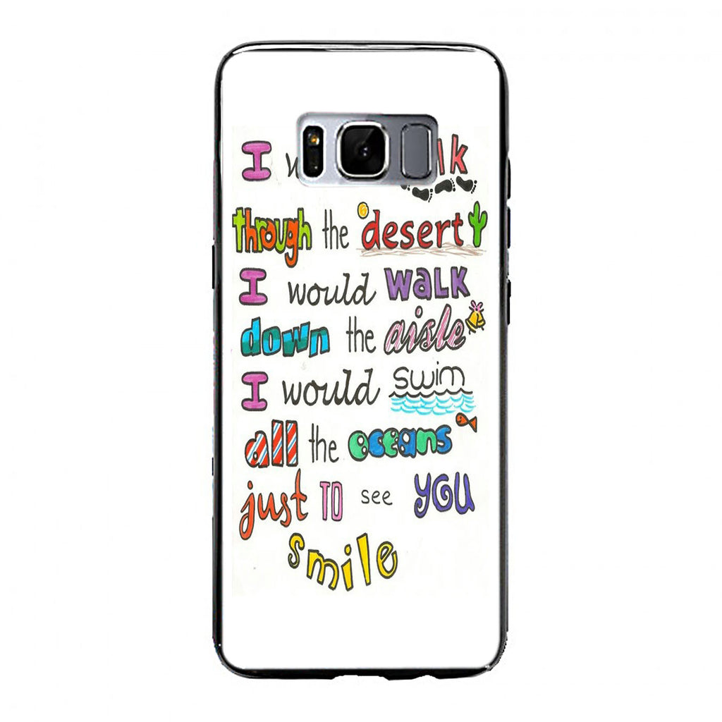 1D Lyrics Samsung Galaxy S8 Plus Case | yukitacase.com